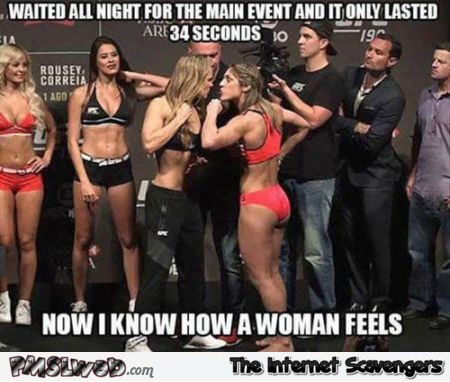 Now I know how a woman feels meme at PMSLweb.com
