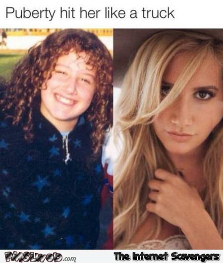 Puberty hit her like a truck humor at PMSLweb.com