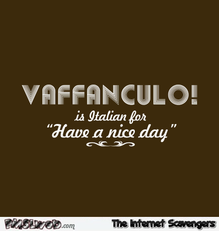 Vaffanculo humor at PMSLweb.com