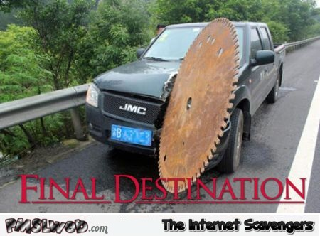 Real life final destination – Wednesday madness @PMSLweb.com