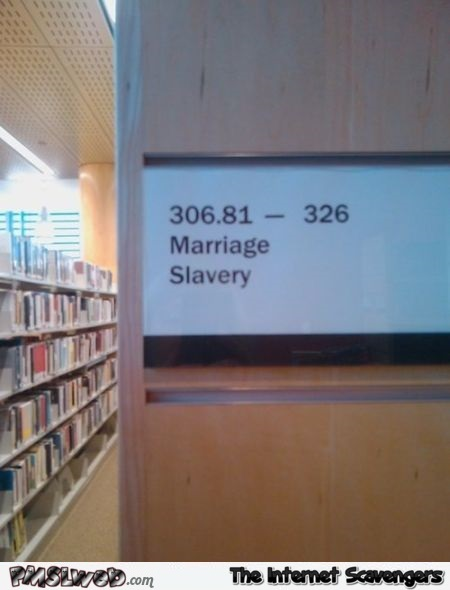 Funny library aisle @PMSLweb.com