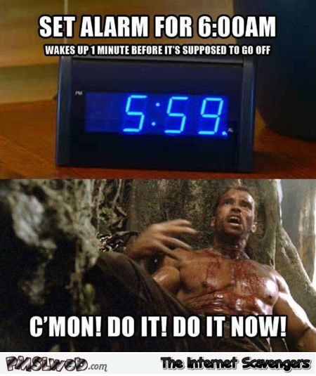Funny alarm clock meme - Tuesday craze @PMSLweb.com