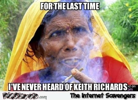 I've never heard of Keith Richards meme