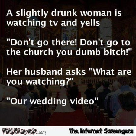 Funny wedding joke @PMSLweb.com