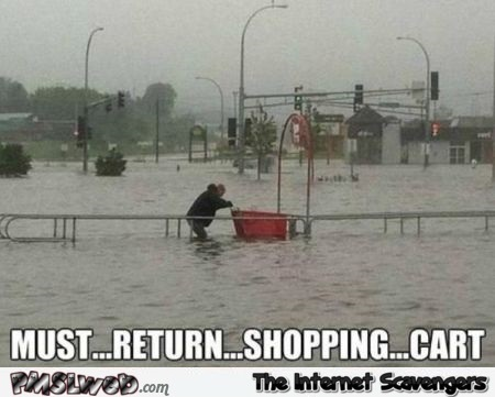 Must return shopping cart meme @PMSLweb.com