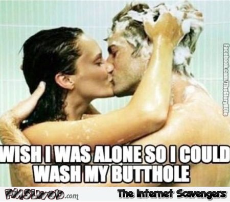Funny couple shower meme @PMSLweb.com