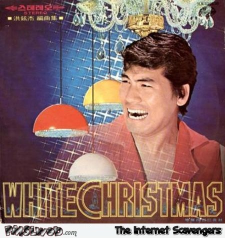 White Christmas funny album cover @PMSLweb.com