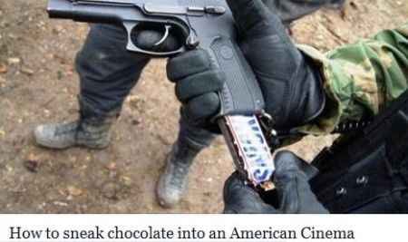 How to sneak chocolate into an American cinema humor @PMSLweb.com