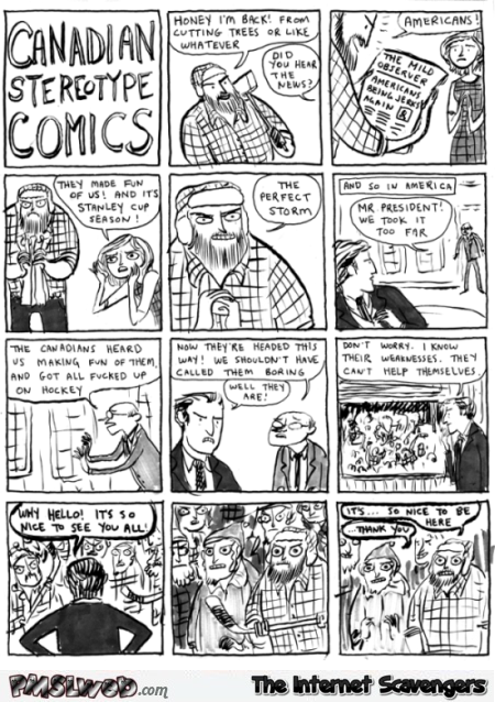 Funny Canadian stereotype comic