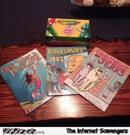 Funny coloring book titles – Monday PMSL @PMSLweb.com