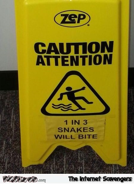 Funny wet floor sign @PMSLweb.com