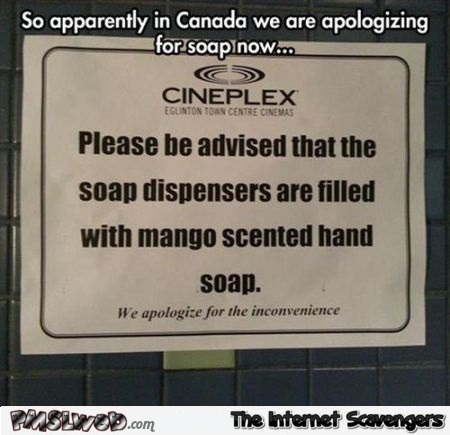 Canada apologizing for soap humor @PMSLweb.com