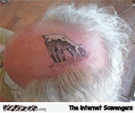 Awesome going bald tattoo – PMSLweb weekend @PMSLweb.com