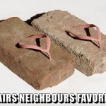 Upstairs neighbours favorite shoes meme @PMSLweb.com