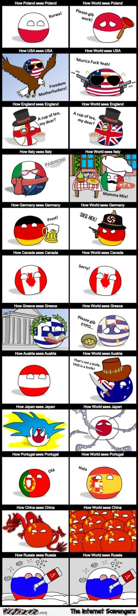 How countries see themselves funny Polandball @PMSLweb.com