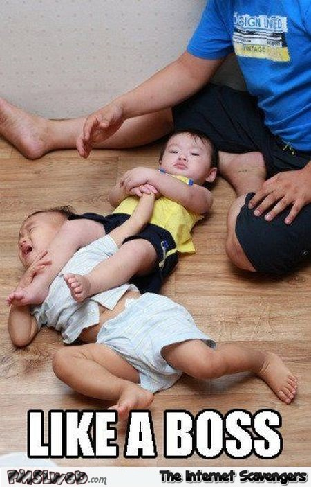 Baby wrestling like a boss – Monday fun @PMSLweb.com