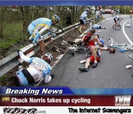 Chuck Norris takes up cycling @PMSLweb.com