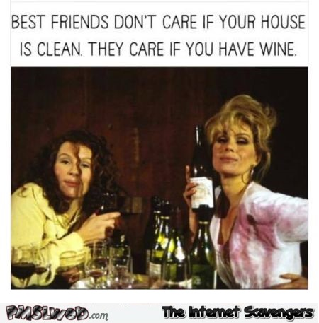 Best friends don't care if your house is clean – Weekend humor @PMSLweb.com