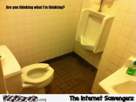 Are you thinking what I'm thinking toilet humor @PMSLweb.com
