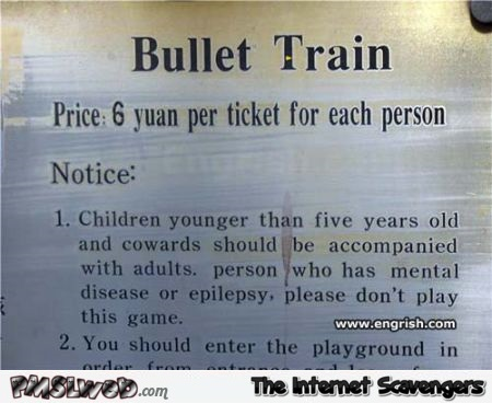 Bullet train translation fail @PMSLweb.com