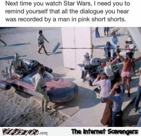 Next time you watch Star Wars funny fact @PMSLweb.com