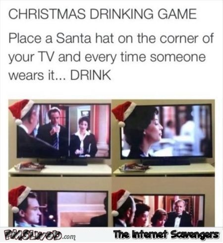 Funny Christmas drinking game @PMSLweb.com