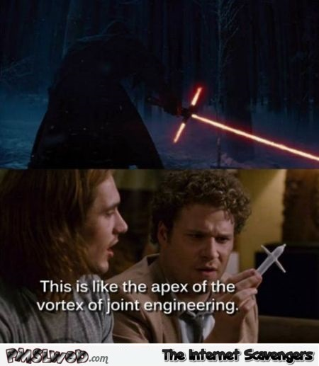 Star Wars VII light saber humor @PMSLweb.com
