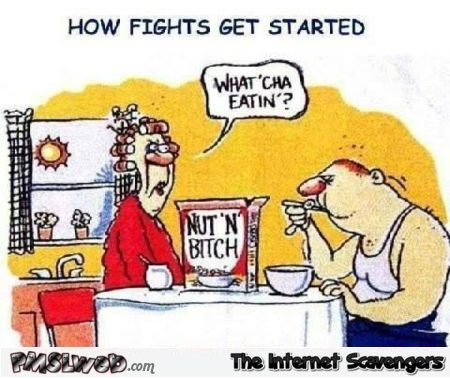 How fights get started funny cartoon @PMSLweb.com