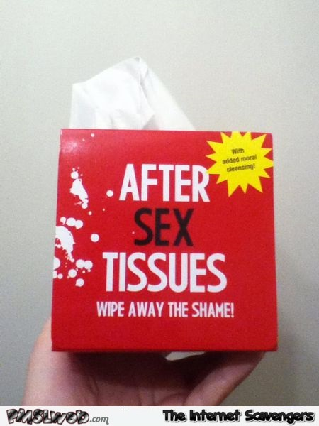 After sex tissues @PMSLweb.com