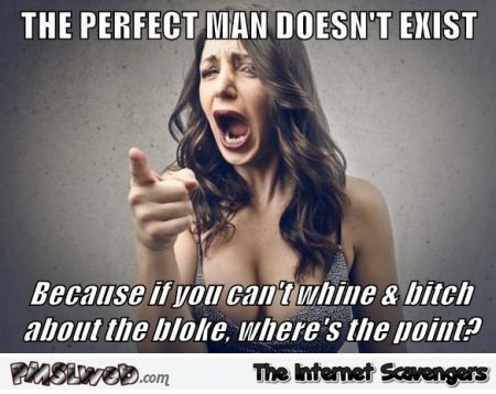 The perfect man doesn't exist meme @PMSLweb.com