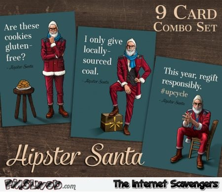 Funny Hipster santa cards – Hilarious Christmas pictures @PMSLweb.com