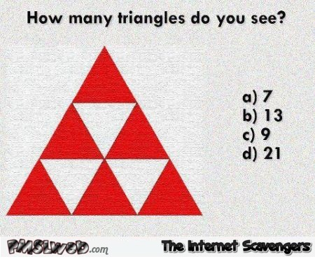How many triangles do you see test – Procrastination playground @PMSLweb.com
