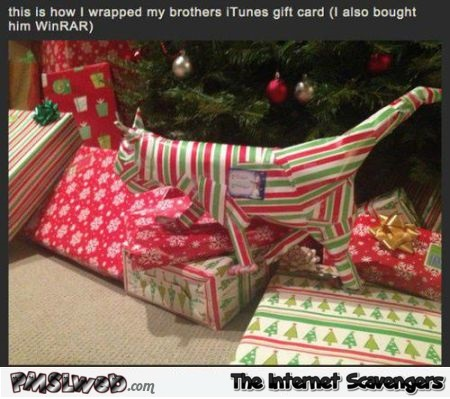 How to wrap an iTunes gift card humor @PMSLweb.com