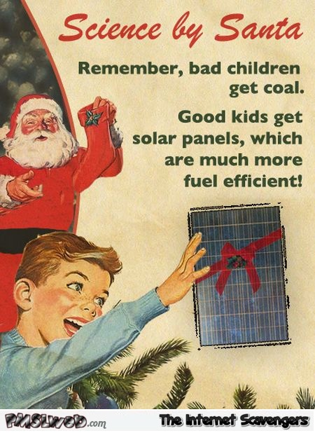 Science by Santa humor @PMSLweb.com