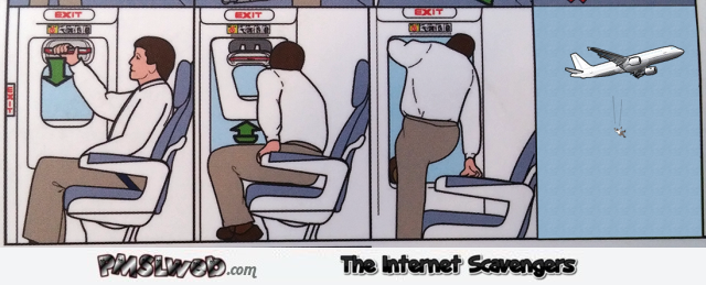 Funny plane exit guidelines @PMSLweb.com