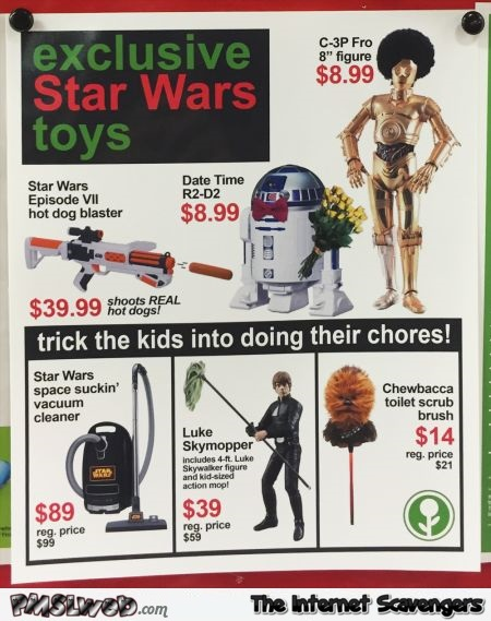 Star Wars toys trick your kids into doing their chores @PMSLweb.com