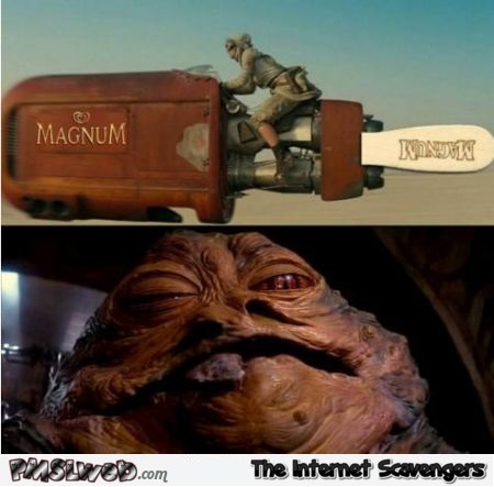 Funny Star Wars and magnum ice cream @PMSLweb.com