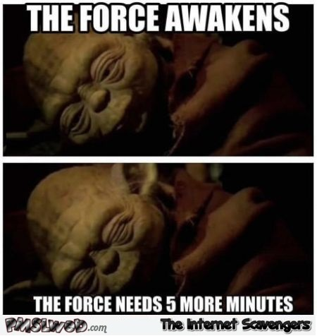 The force awakens Yoda meme @PMSLweb.com