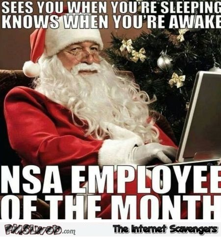 NSA employee of the month santa meme @PMSLweb.com