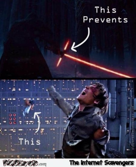 Star Wars VII light saber meme