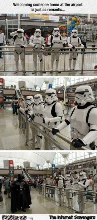 Star Wars airport humor