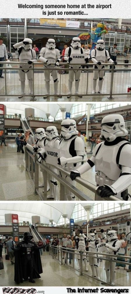 Star Wars airport humor – Funny Star Wars pictures @PMSLweb.com
