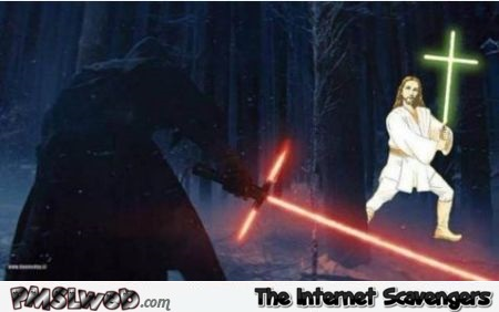 Star Wars VII Jesus light saber humor @PMSLweb.com