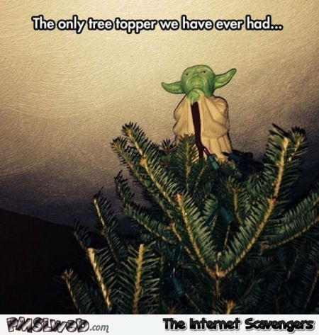 Yoda Christmas tree topper @PMSLweb.com