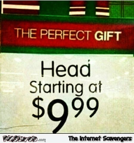 Perfect Christmas gift sign fail