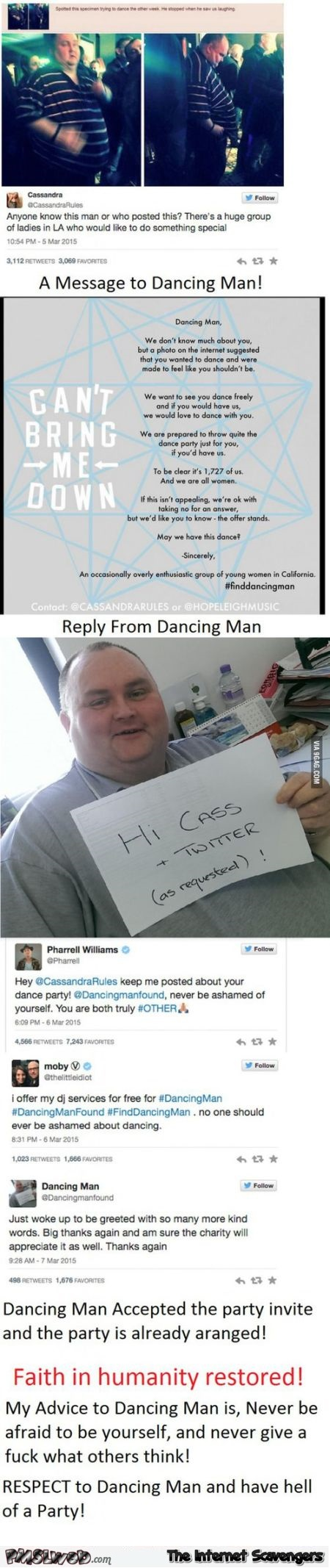 The dancing man faith in humanity restored @PMSLweb.com