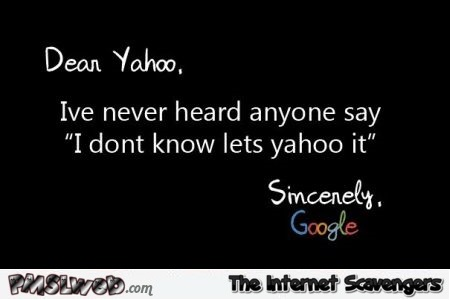 Dear Yahoo humor – LMAO pictures @PMSLweb.com