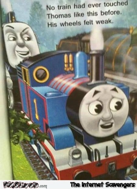 Awkward Thomas the tank engine fail @PMSLweb.com