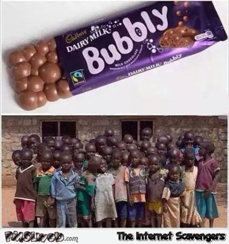 Bubbly chocolate humor @PMSLweb.com