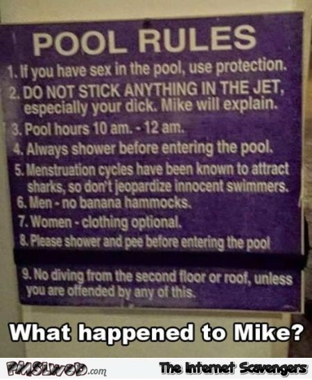 Funny pool rules meme | PMSLweb